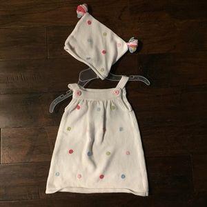 Gymboree sweater dress & hat set, 18-24 months